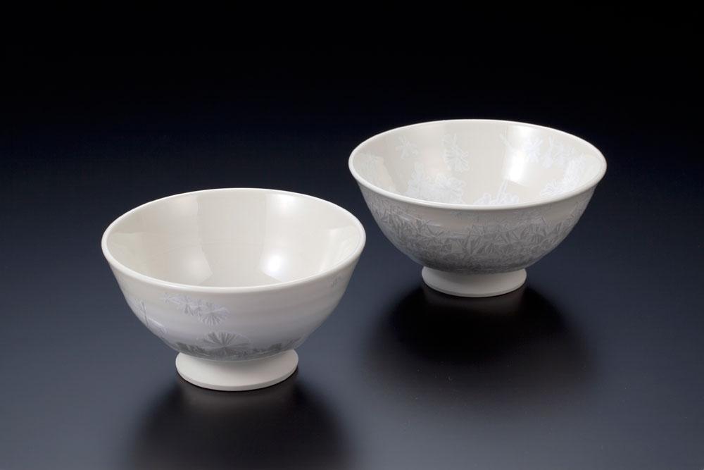 雪の花 茶碗